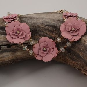 Dusty Rose Necklace/Earring Set!